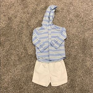Carter's boys long sleeve shirt and shorts outfit
